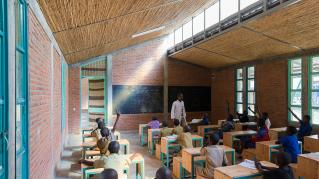 Photo by Iwan Baan. A classroom interior at the Mubuga Primary School